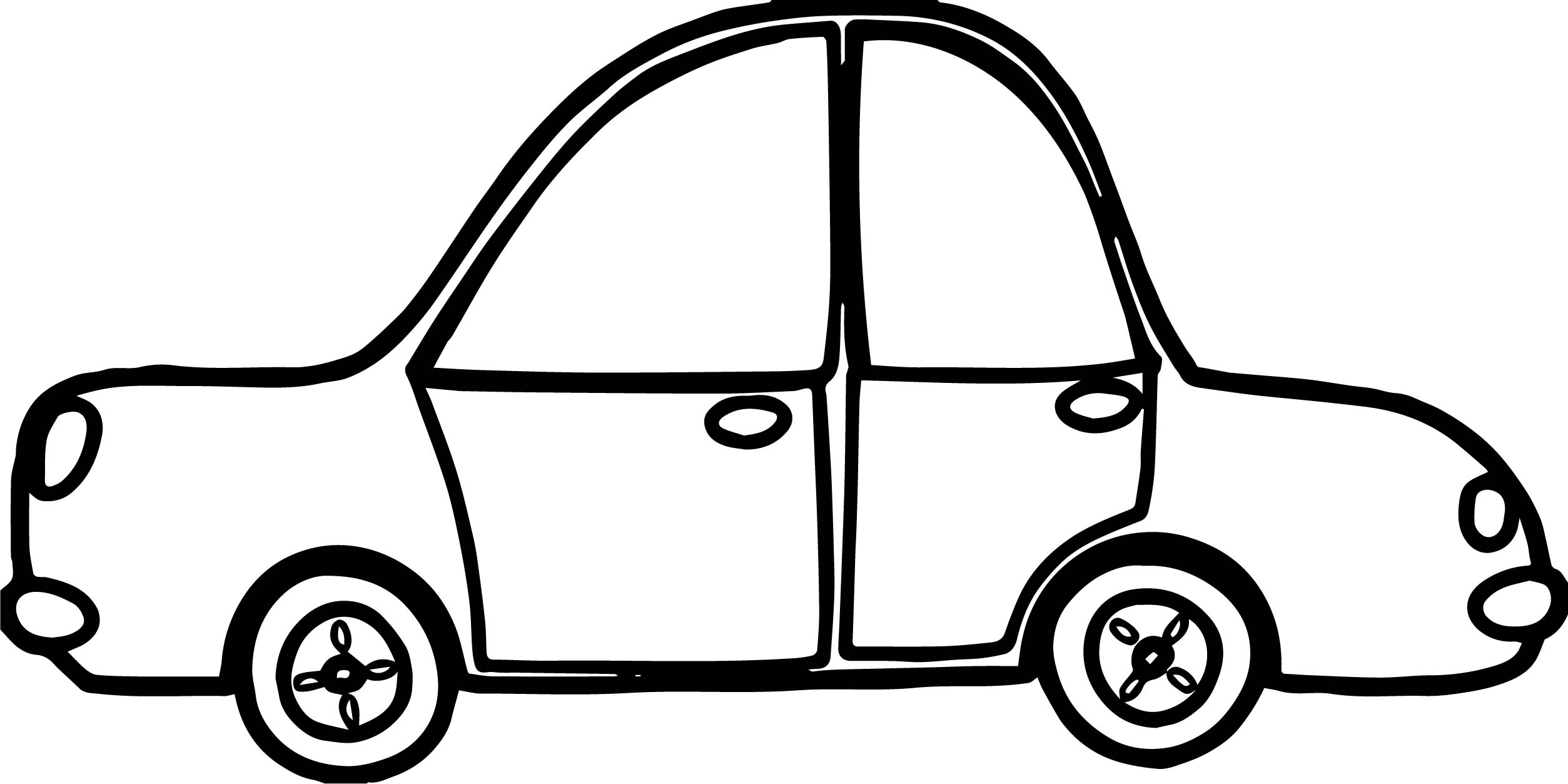 Toy Car Side Coloring Pages