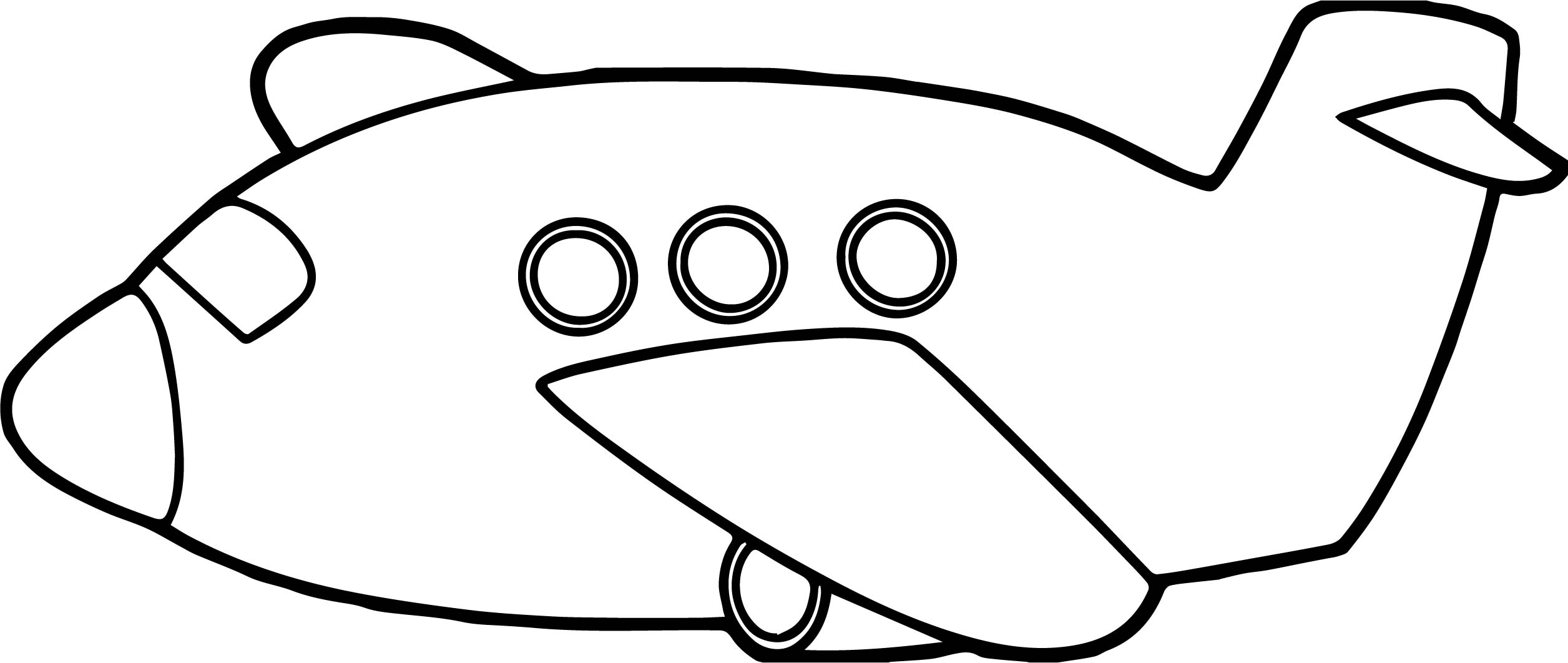 Toy Fat Airplane Coloring Page