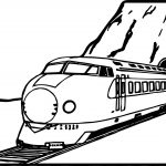 Train Mountain Coloring Page