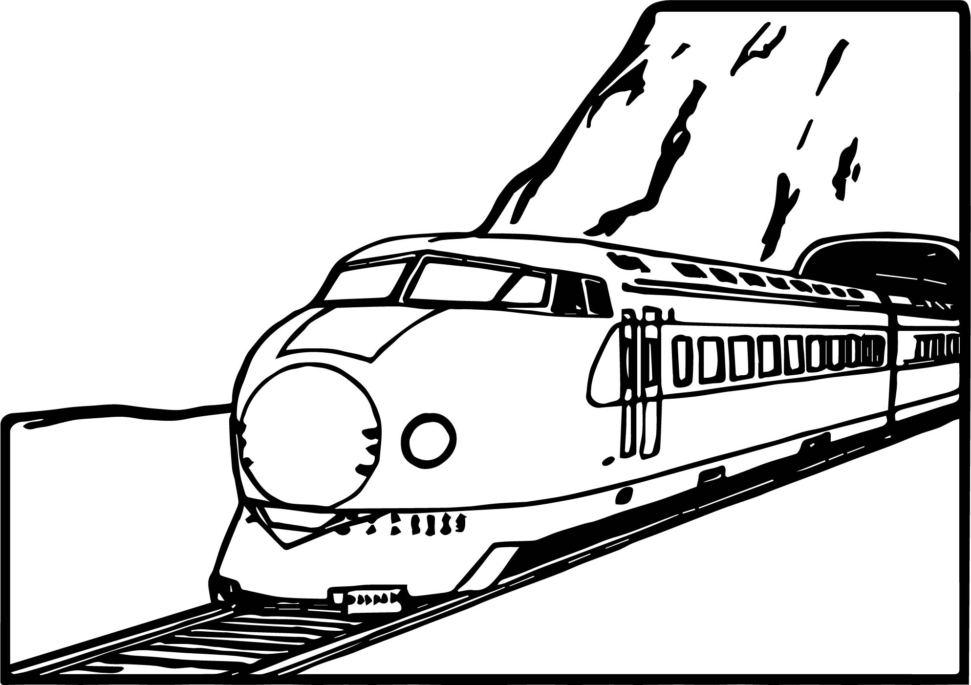 train mountain coloring page - Mountain Coloring Page