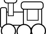 Train Preschool Coloring Page