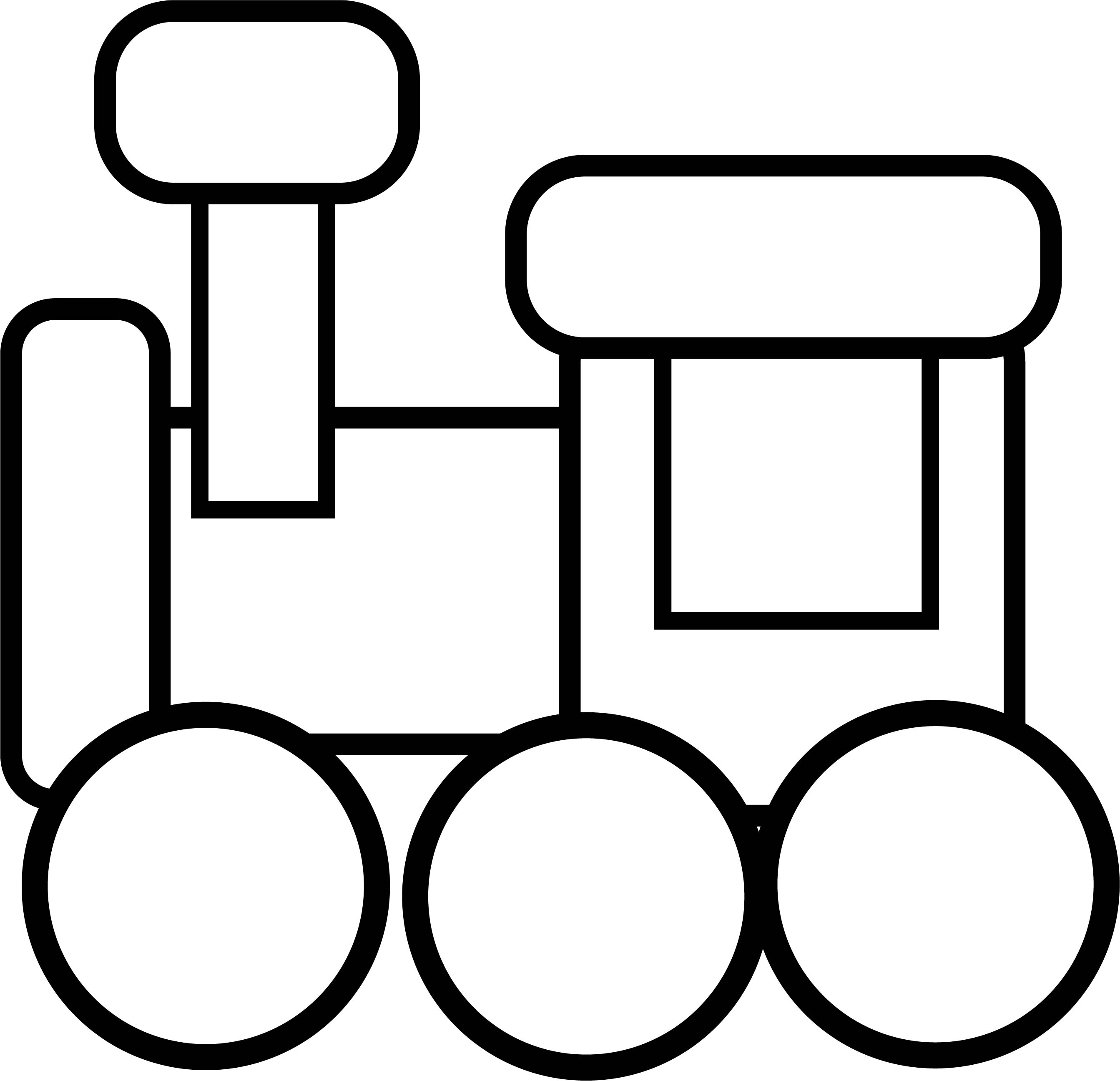 Train Preschool Coloring Page