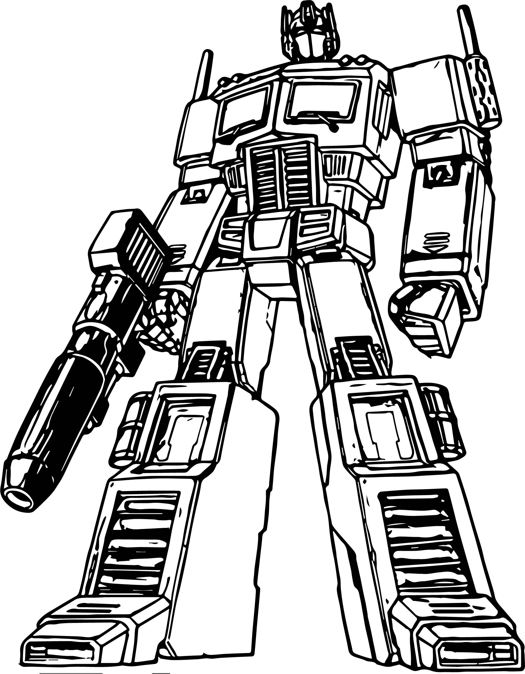 Transformers cartoon coloring page for Transformers animated coloring pages