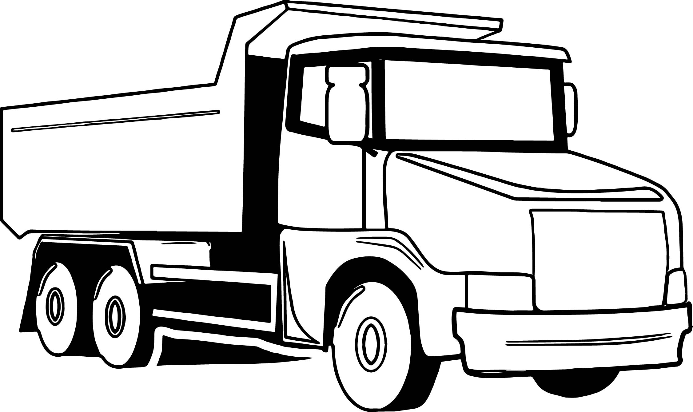 Truck big coloring page for Big trucks coloring pages