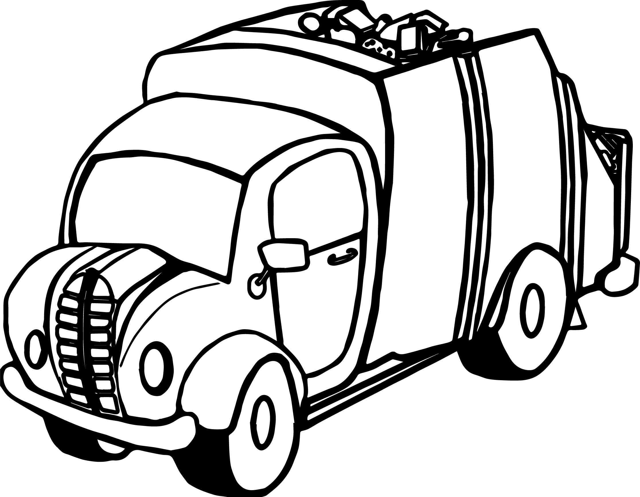 Truck Garbage Coloring Page