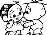Turma Da Monica Baby Kiss Coloring Page