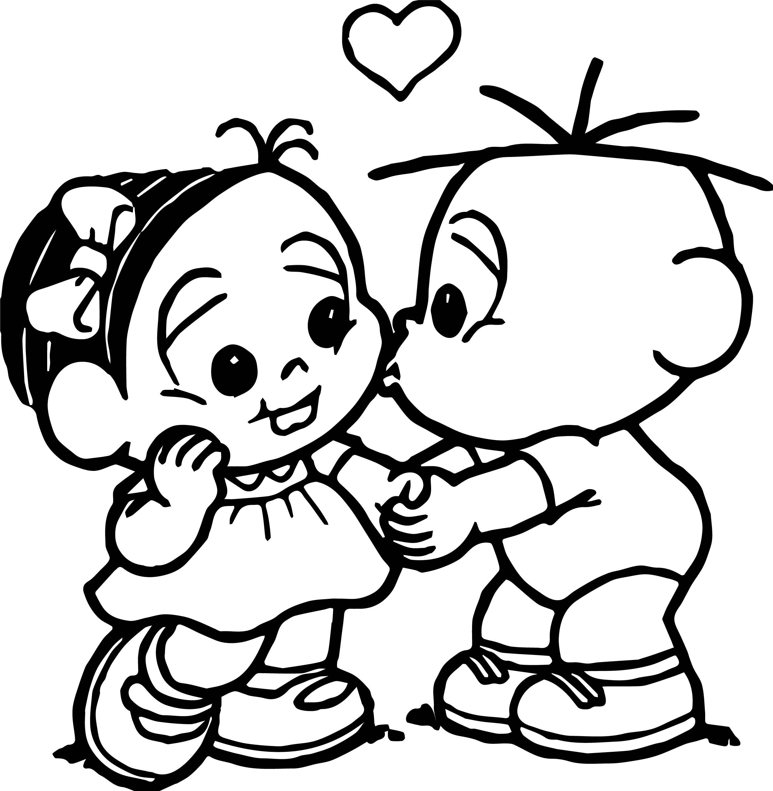 Turma Da Monica Baby Kiss Coloring Page Wecoloringpage