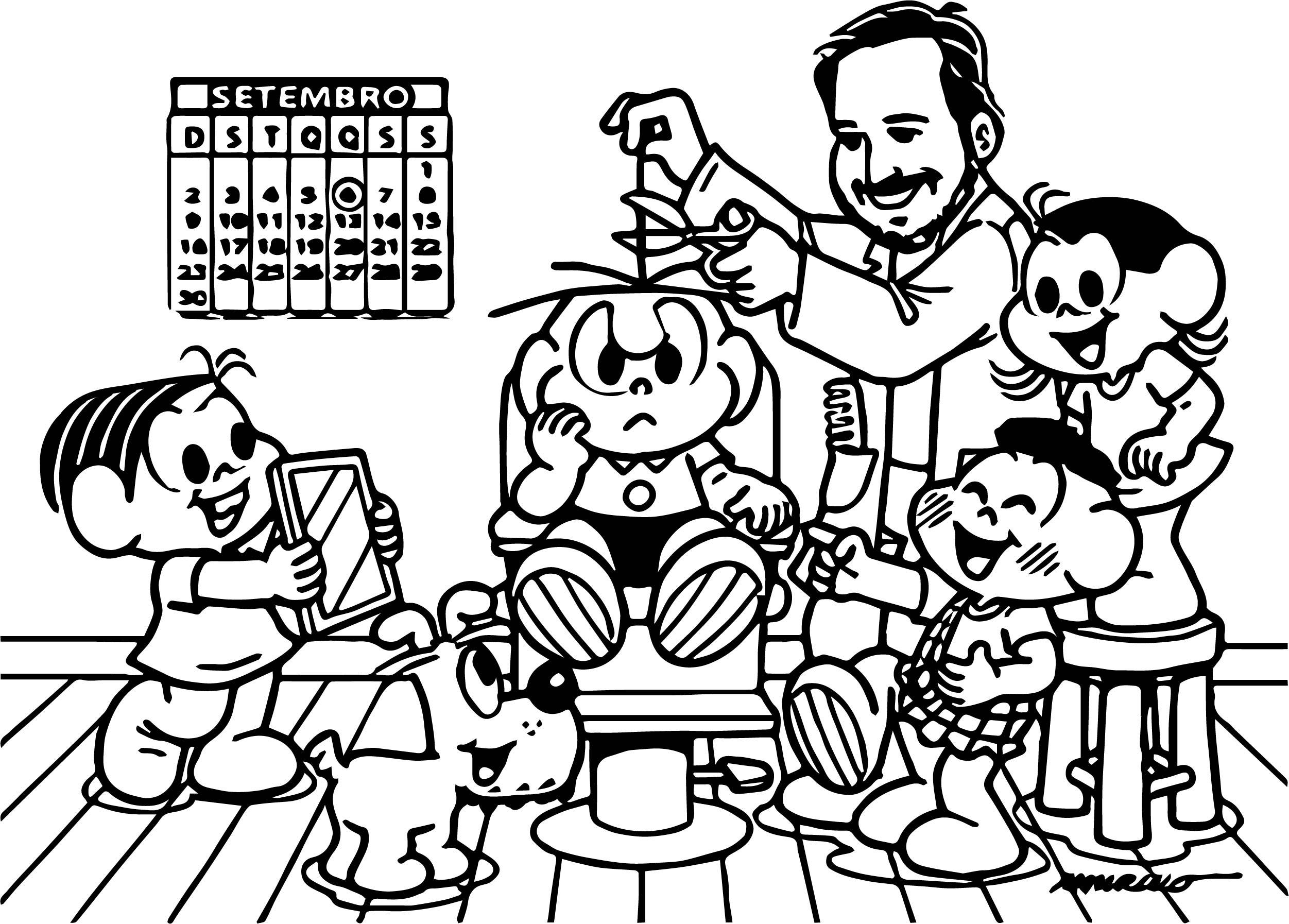 Turma Da Monica Barber Coloring Page