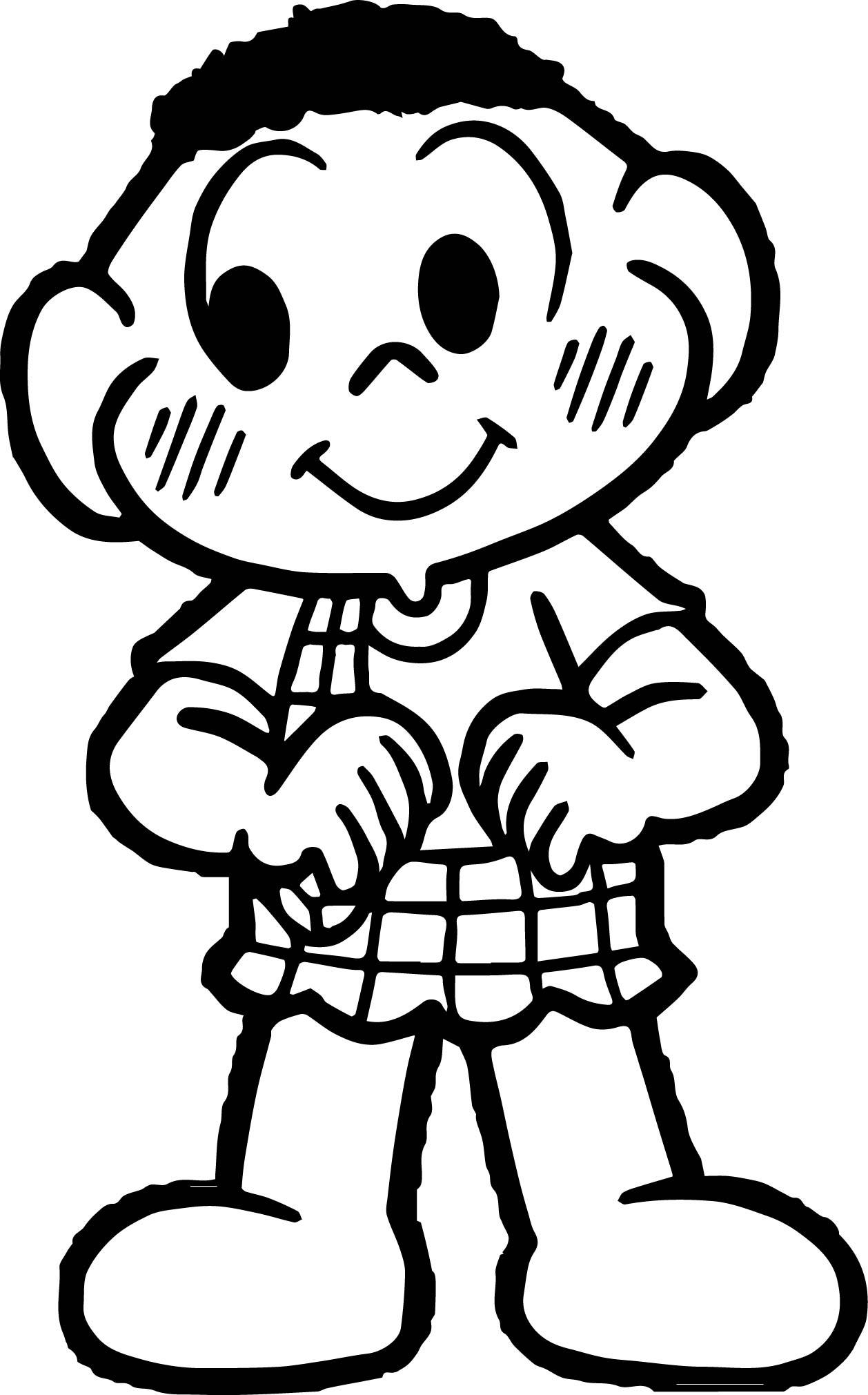 Turma Da Monica Boy Coloring Page