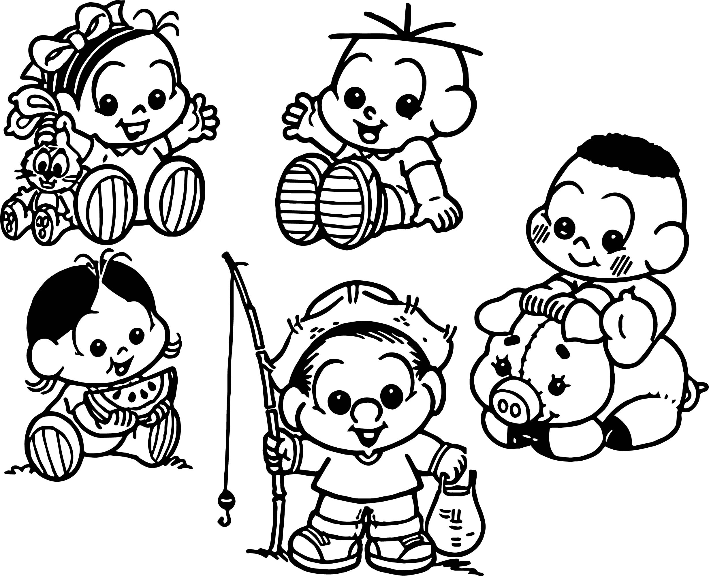 Tunes All Characters Photo Coloring Page