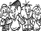 Turma Da Monica Cute Kids Coloring Page