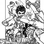 Turma Da Monica Fight Coloring Page
