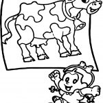 Turma Da Monica Girl And Cow Coloring Page