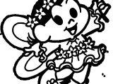 Turma Da Monica Girl Angel Dress Coloring Page