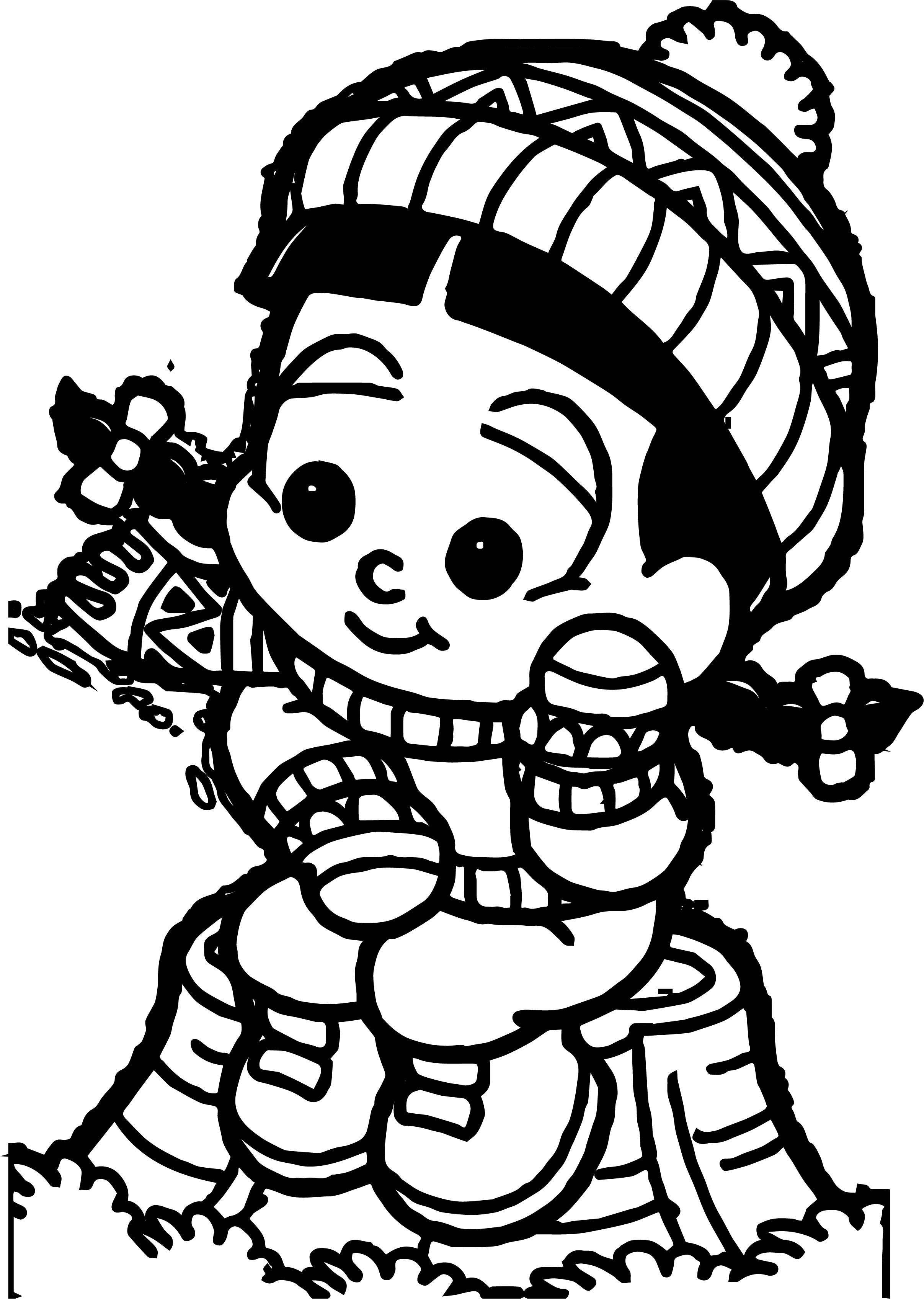 Turma Da Monica Girl Winter Coloring Page