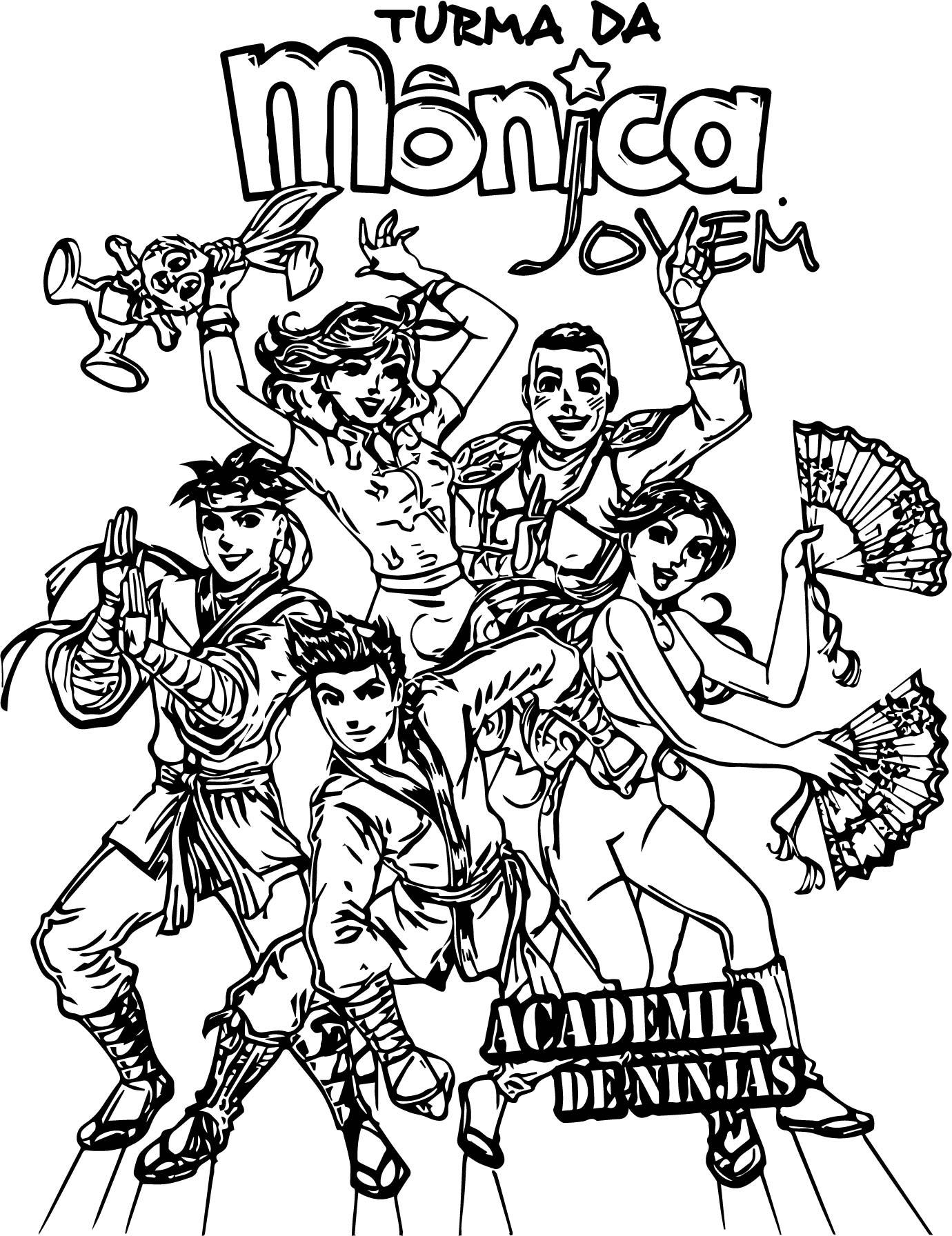 Turma Da Monica Jovem Academia De Ninja Coloring Page