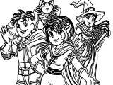 Turma Da Monica Magic Coloring Page