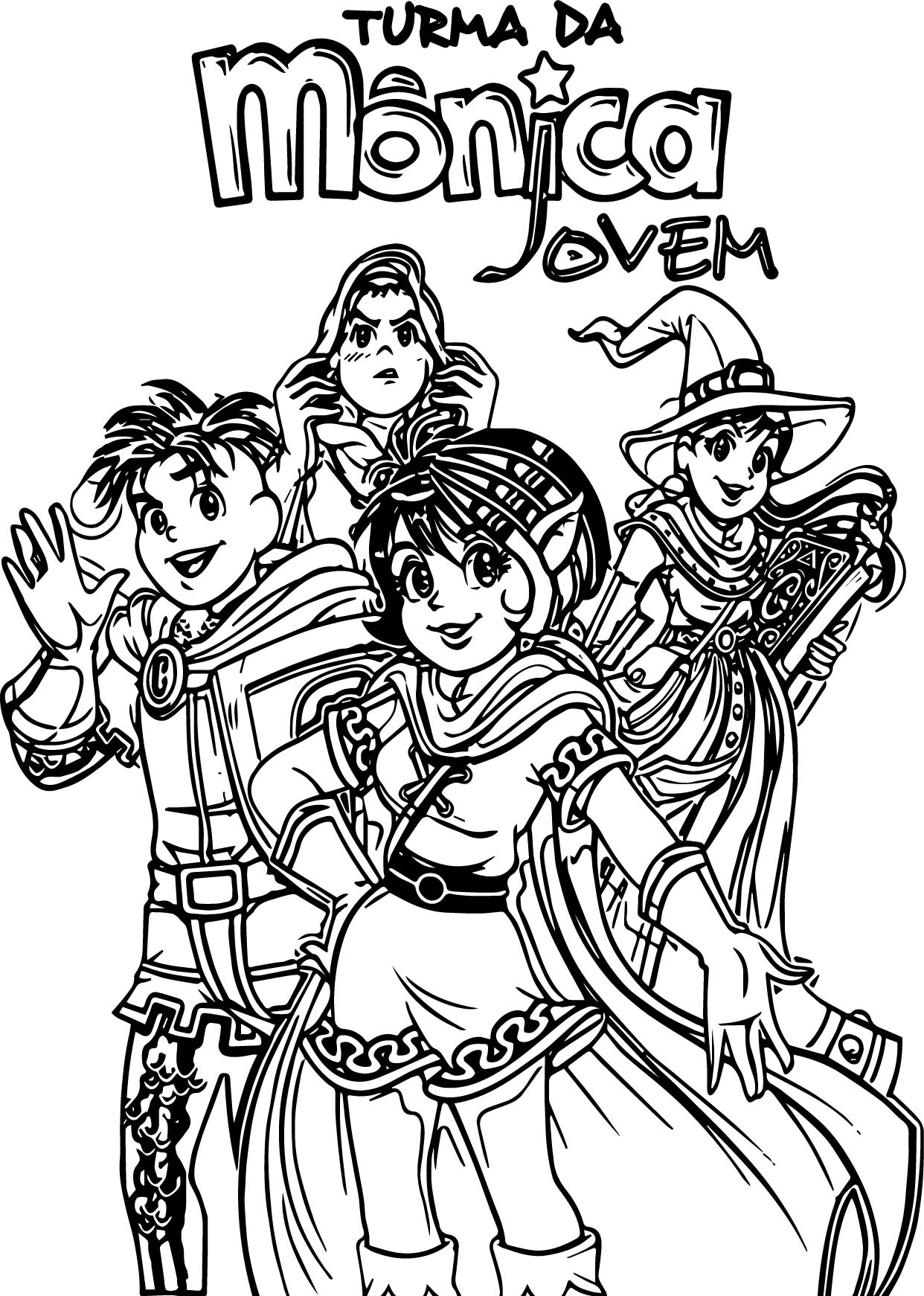 Turma Da Monica Magic Coloring Page
