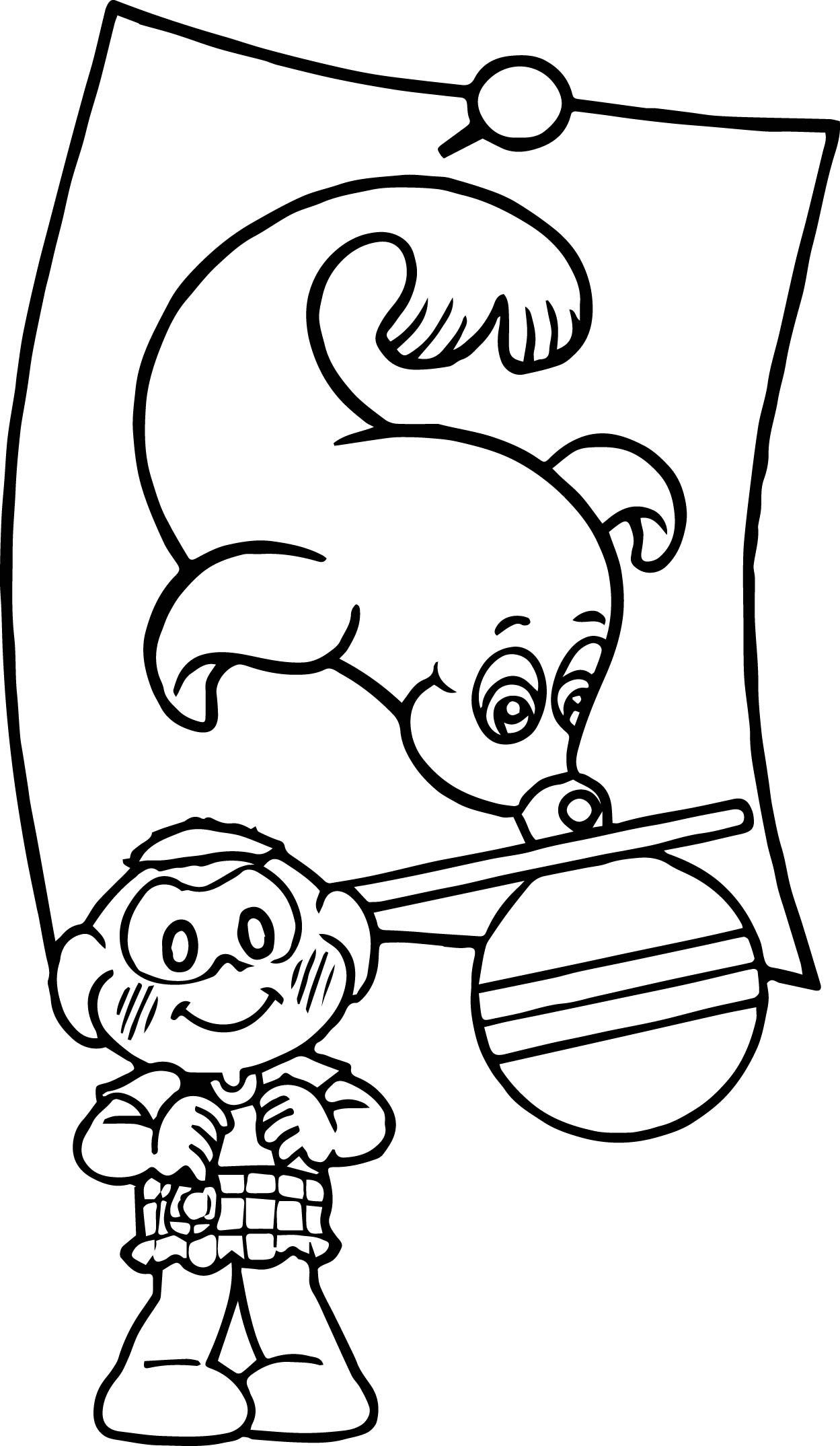 Turma Da Monica Monk Seal Coloring Page