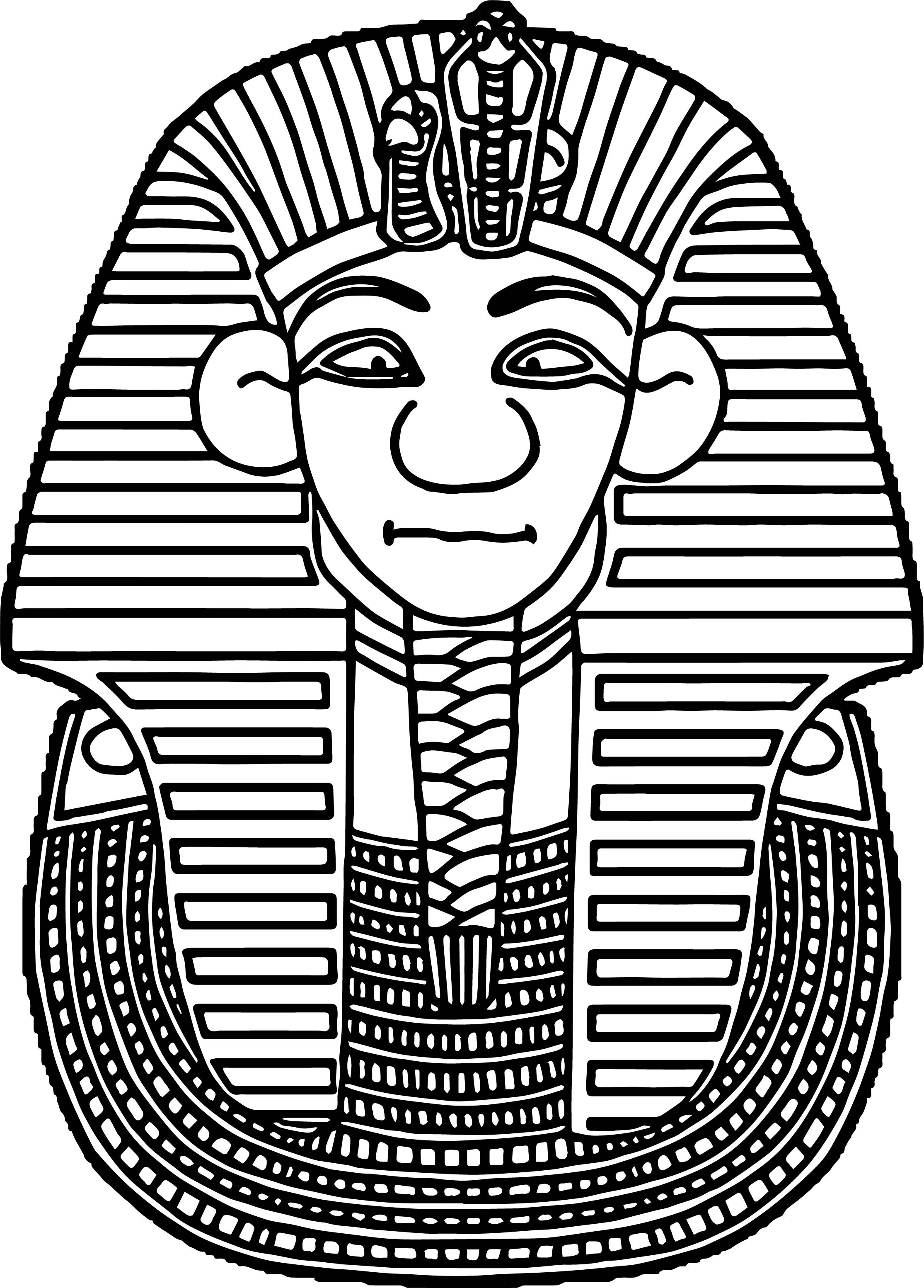 Tuts Mask Ancient Egypt Coloring Page
