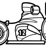 Twelve Toy Car Formula Coloring Page