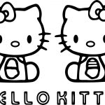Two Hello Kitty Coloring Page