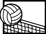 Volleyball Cartoon Net Coloring Page