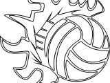 Volleyballs Players Sports Ball Outline Coloring Page
