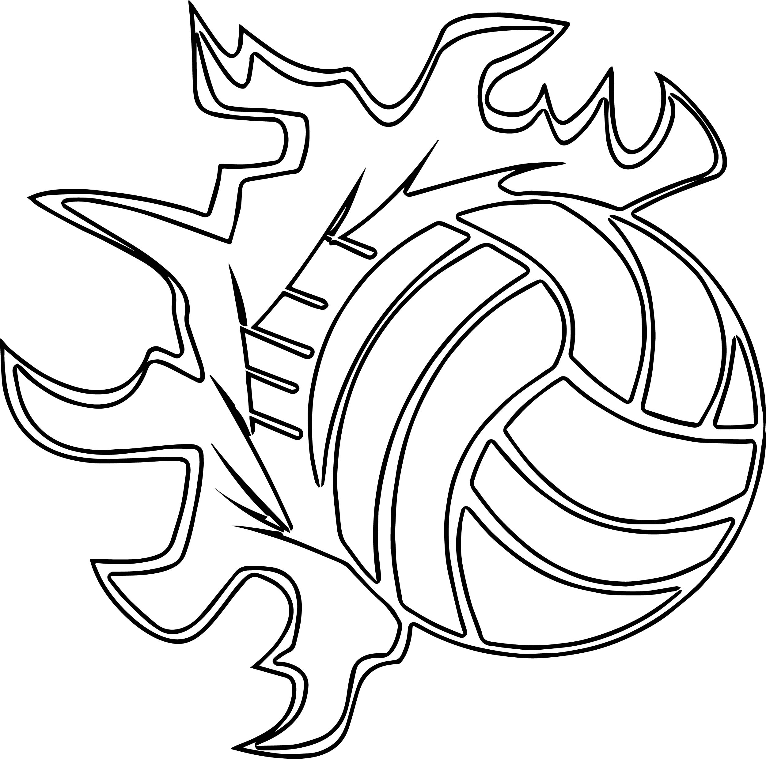 volleyballs players sports ball outline coloring page wecoloringpage