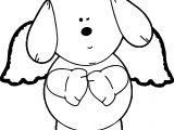 Winking Puppy Angel Coloring Page