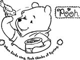 Winnie The Pooh And Bird Coloring Page