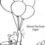 Winnie The Pooh And Piglet Balloon Coloring Page
