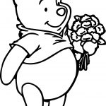 Winnie The Pooh Flower Coloring Pages