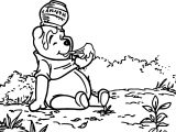 Winnie The Pooh Hmm Hunny Coloring Page