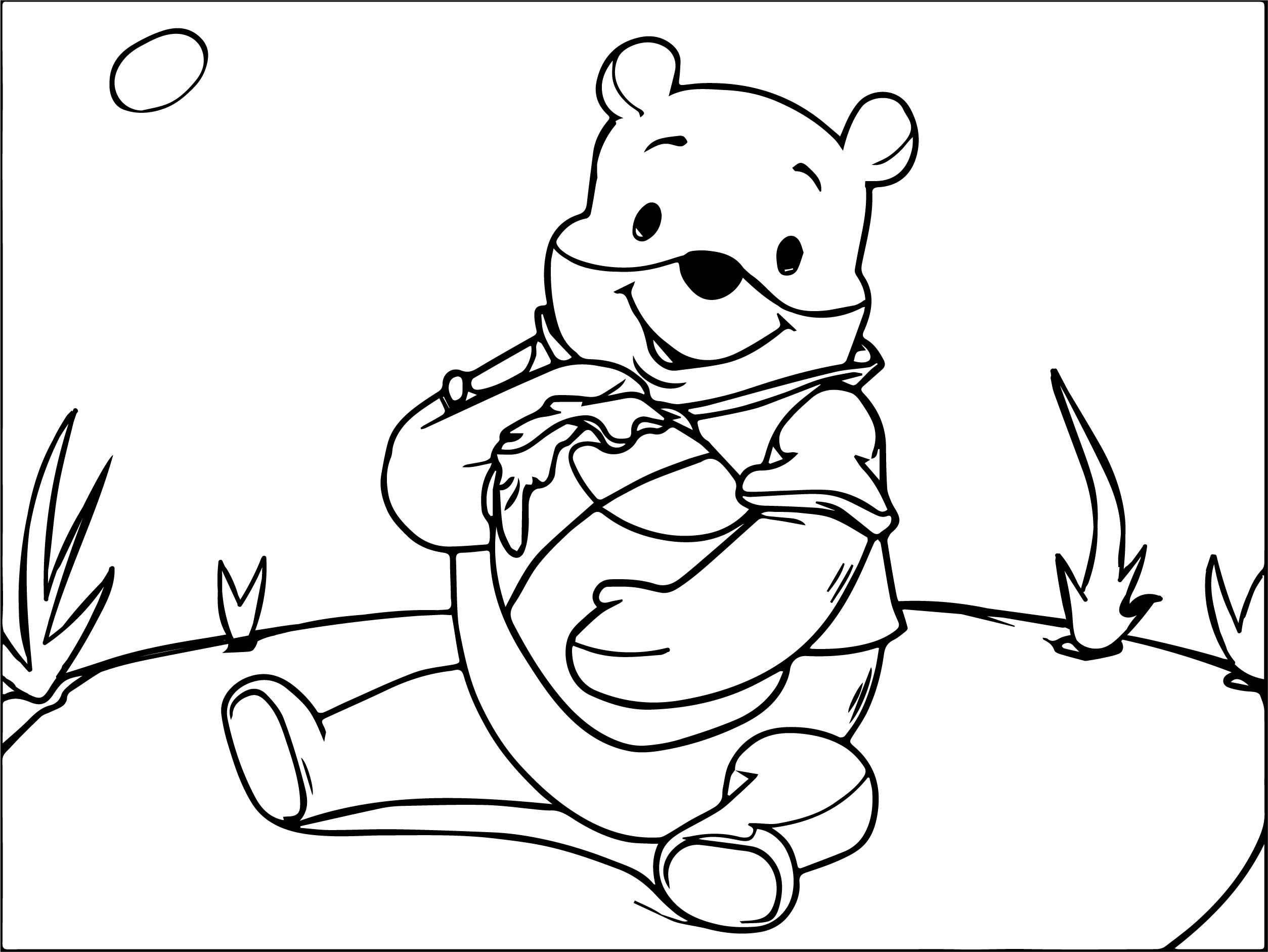 Winnie The Pooh Honey Thief Coloring Page