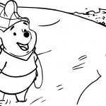 Winnie The Pooh In River Coloring Page