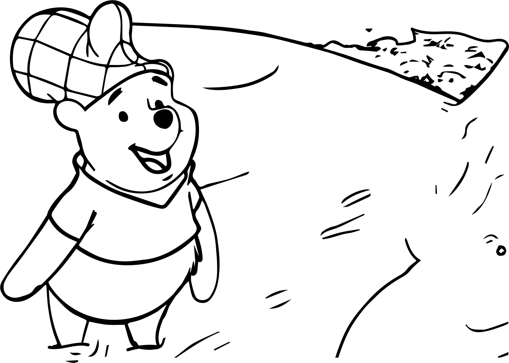 Winnie the pooh in river coloring page for River coloring pages