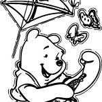 Winnie The Pooh Kite Coloring Page