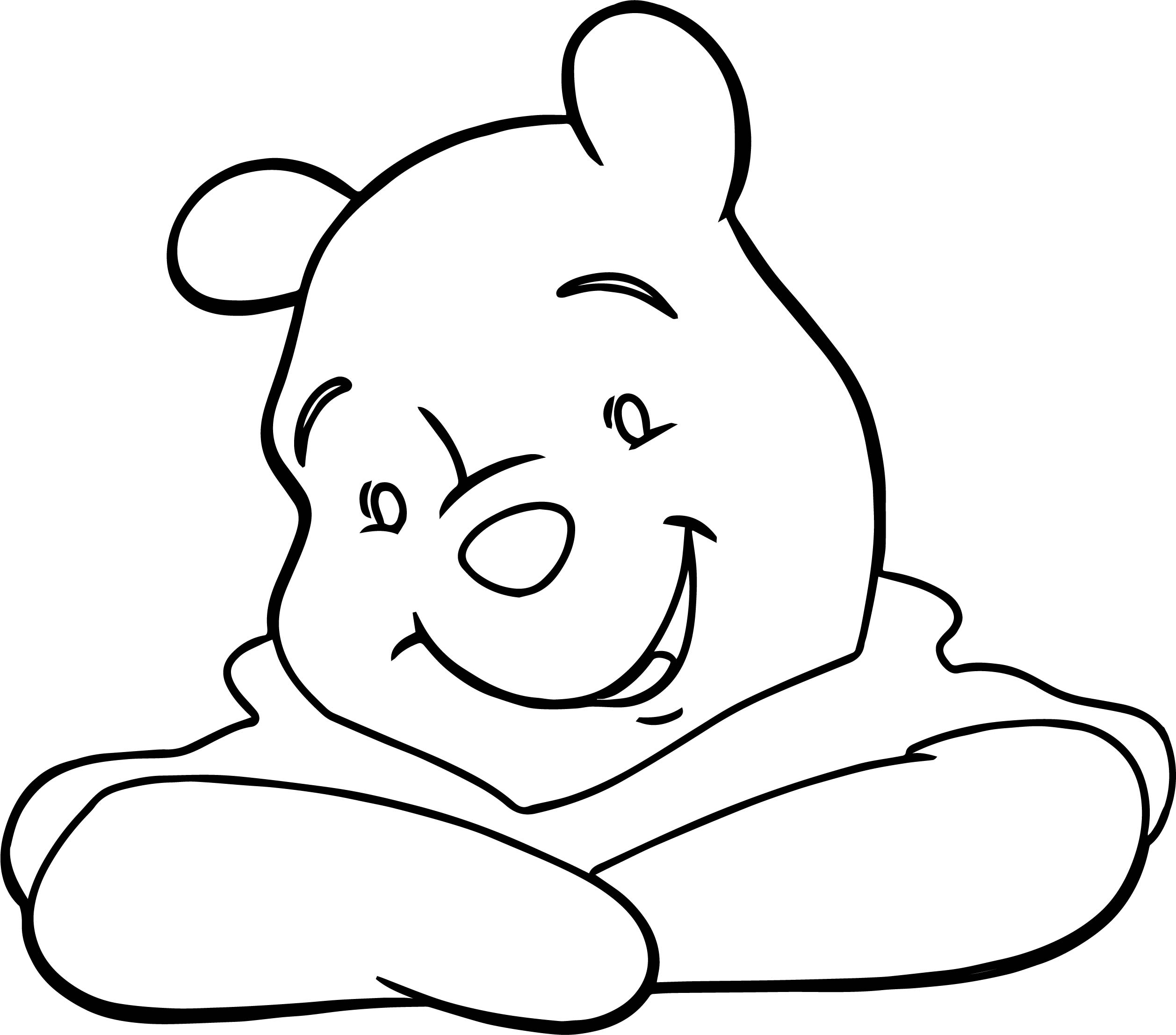 Winnie The Pooh Listen Coloring Page
