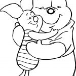 Winnie The Pooh Loving Friends Coloring Page