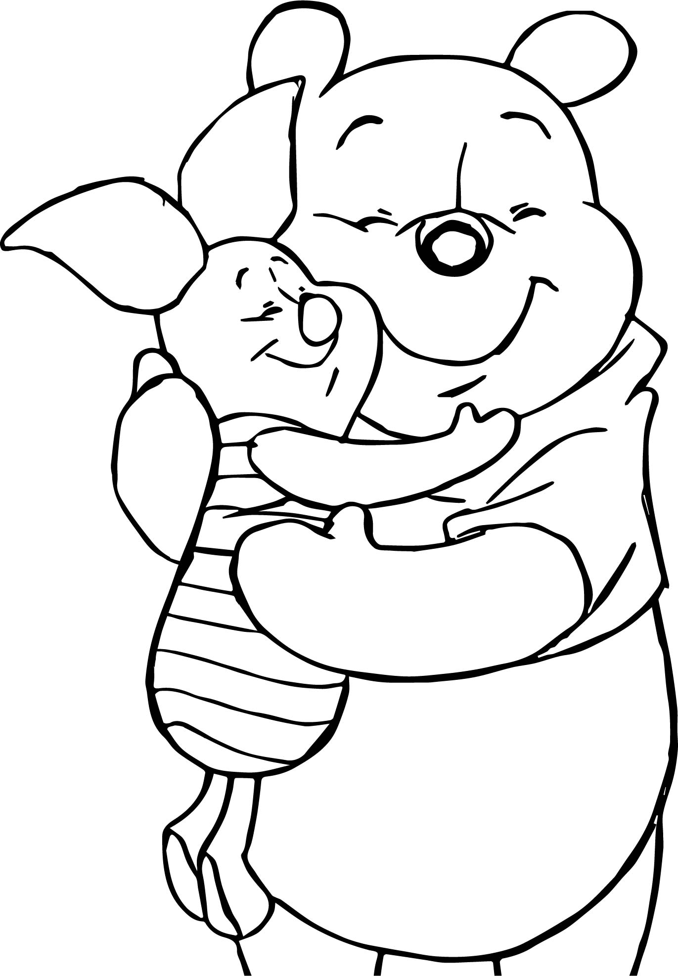 Rabbit winnie the pooh coloring pages