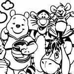Winnie The Pooh Outdoor Coloring Page