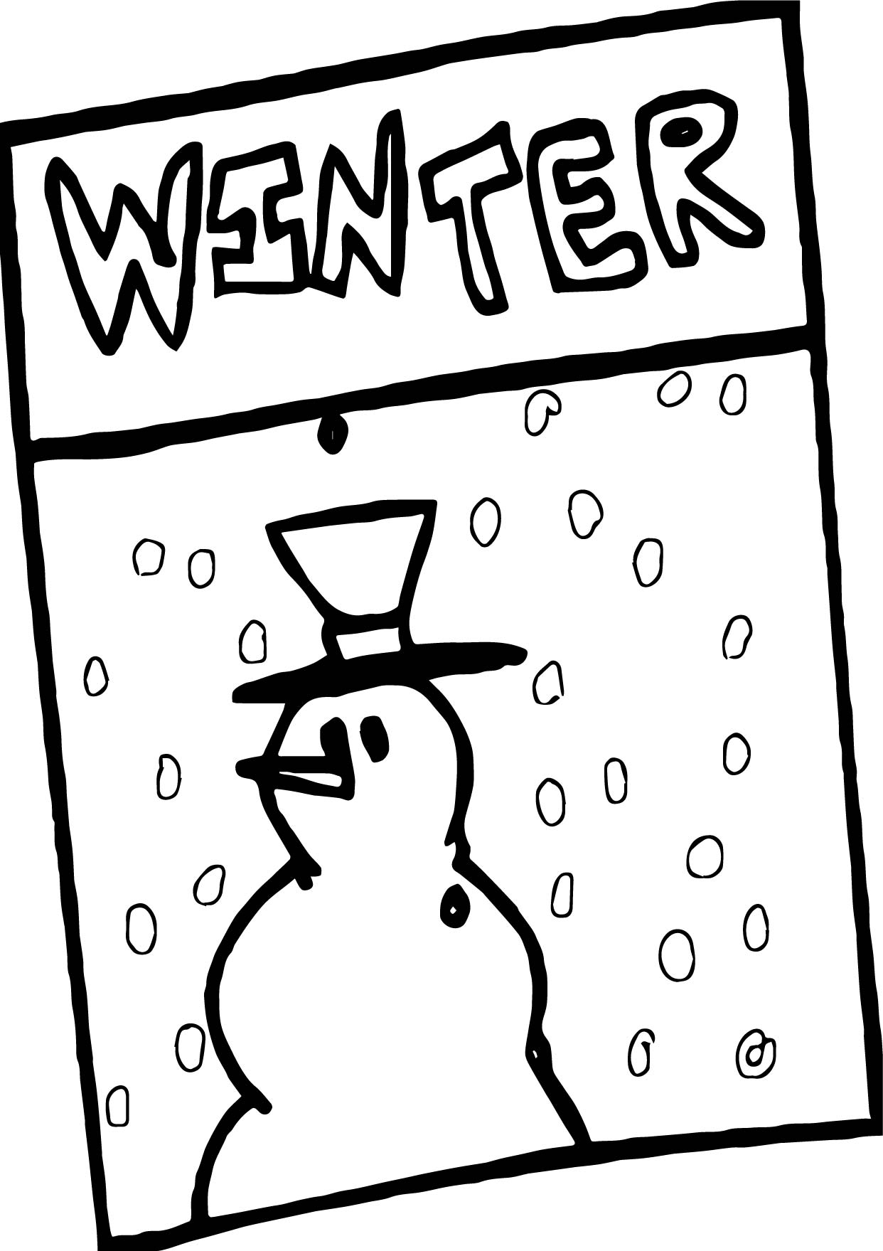 Winter Paper Coloring Page