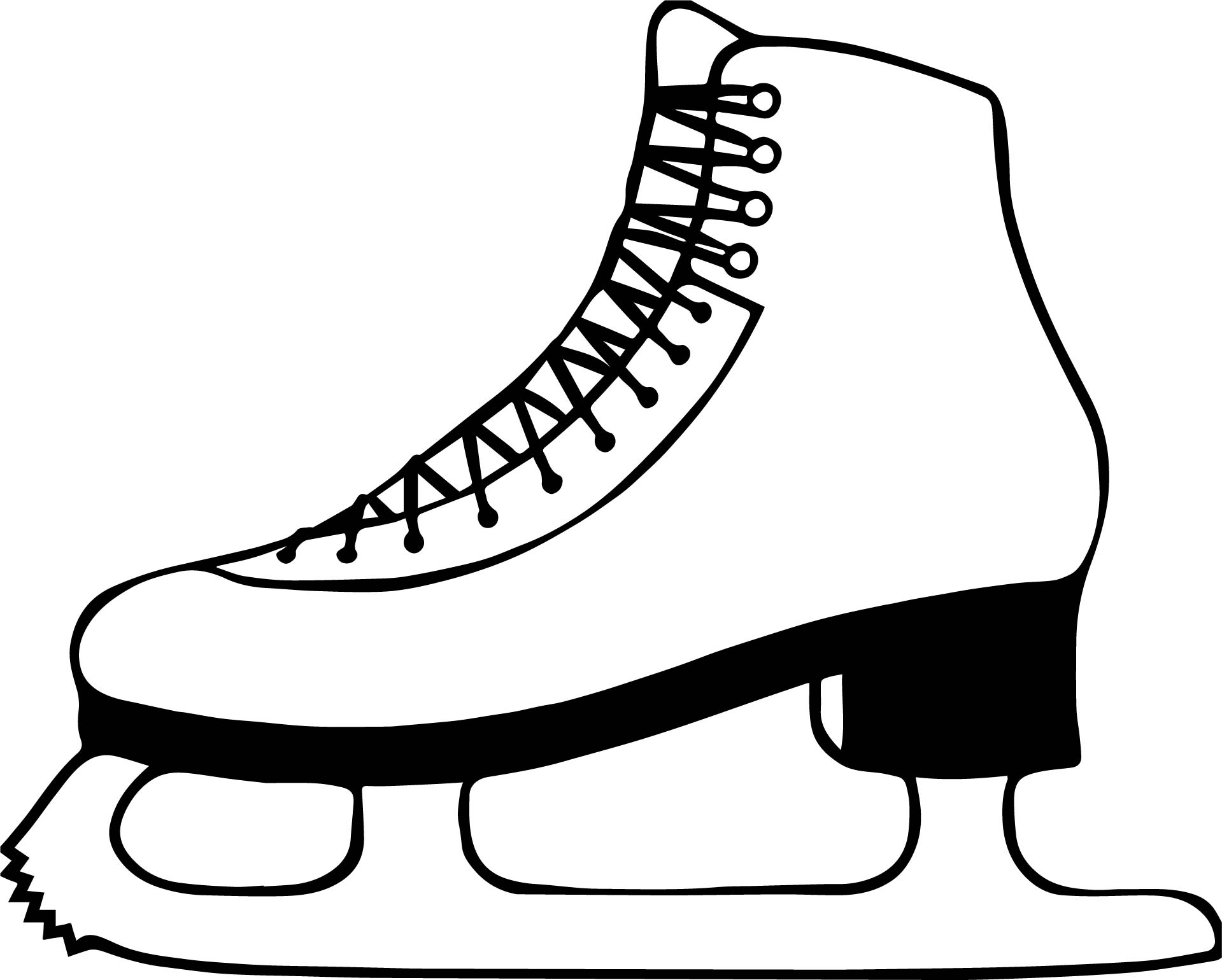 Winter Shoe Coloring Page