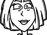 Woman Good Face Coloring Page
