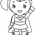 Wonder Woman Kid Batman Coloring Page