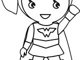 Wonder Woman Kid Batman Coloring Page