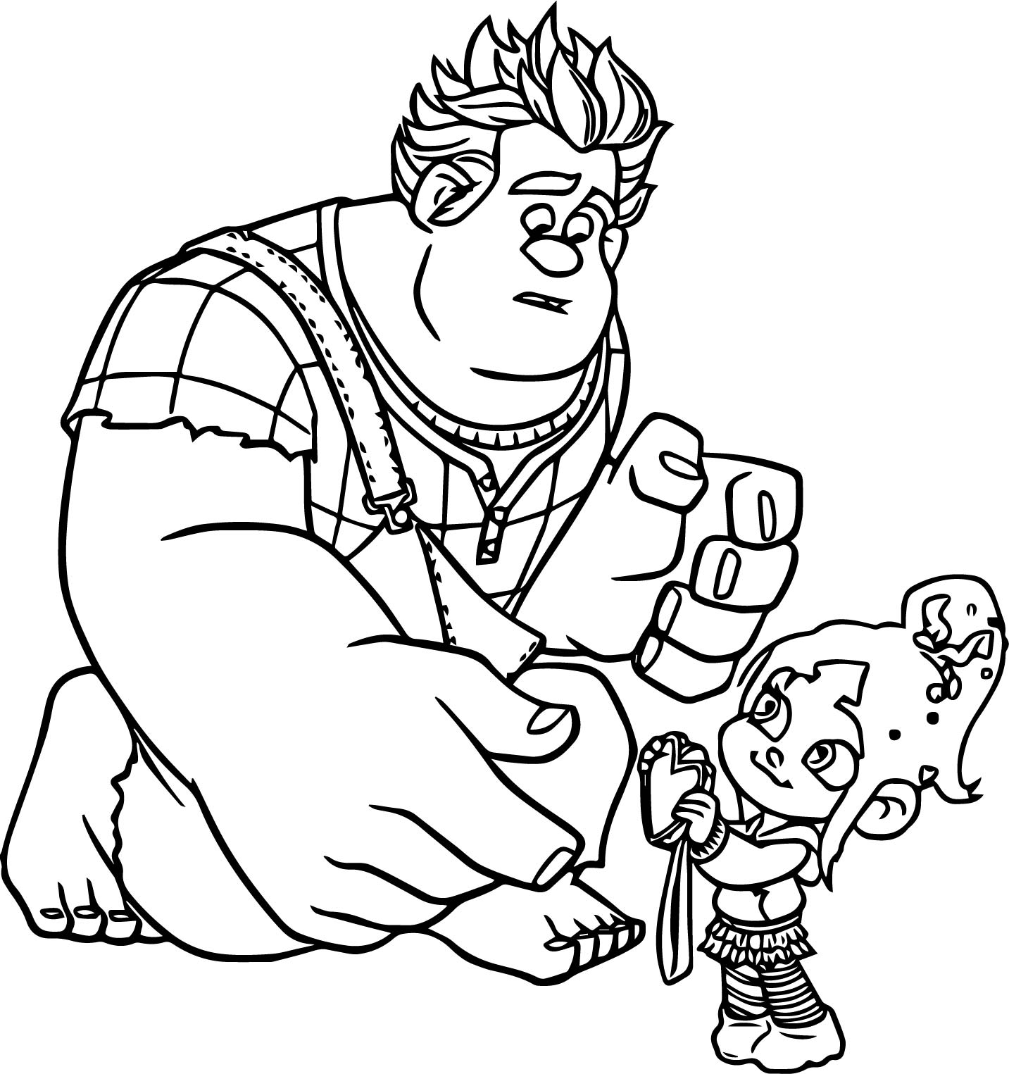 Wreck It Ralph Adventures My Heart Coloring Page