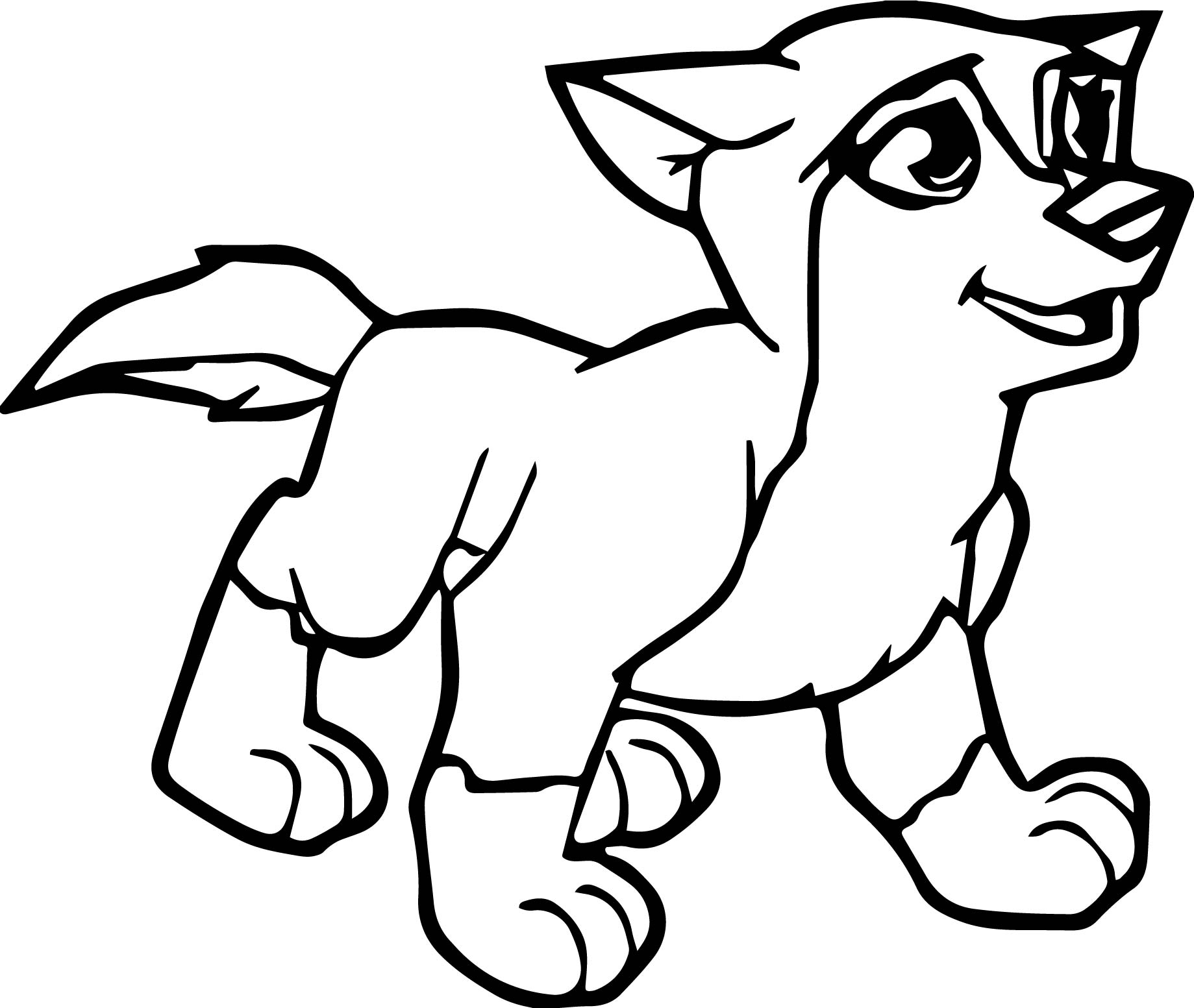 Young Alpha And Omega Wolf Coloring Page