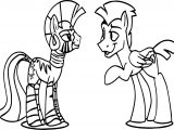 Zecora And Friend Talking Coloring Page